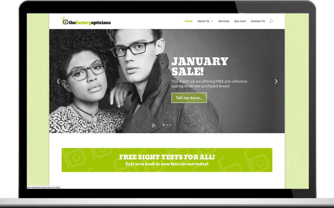 Factory Opticians New Website Launch!